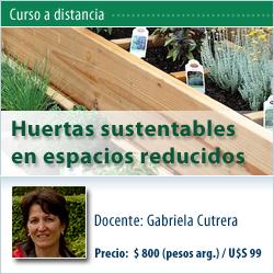 Curso a distancia: Huertas sustentables en espacios reducidos